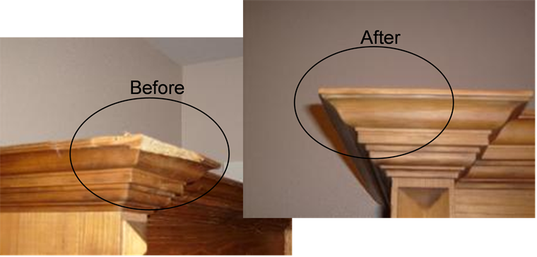 Precision repair works services Restoring old wooden furniture